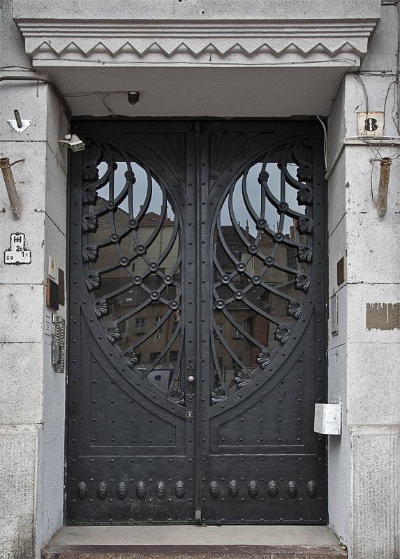 Wrought Iron Heart Door