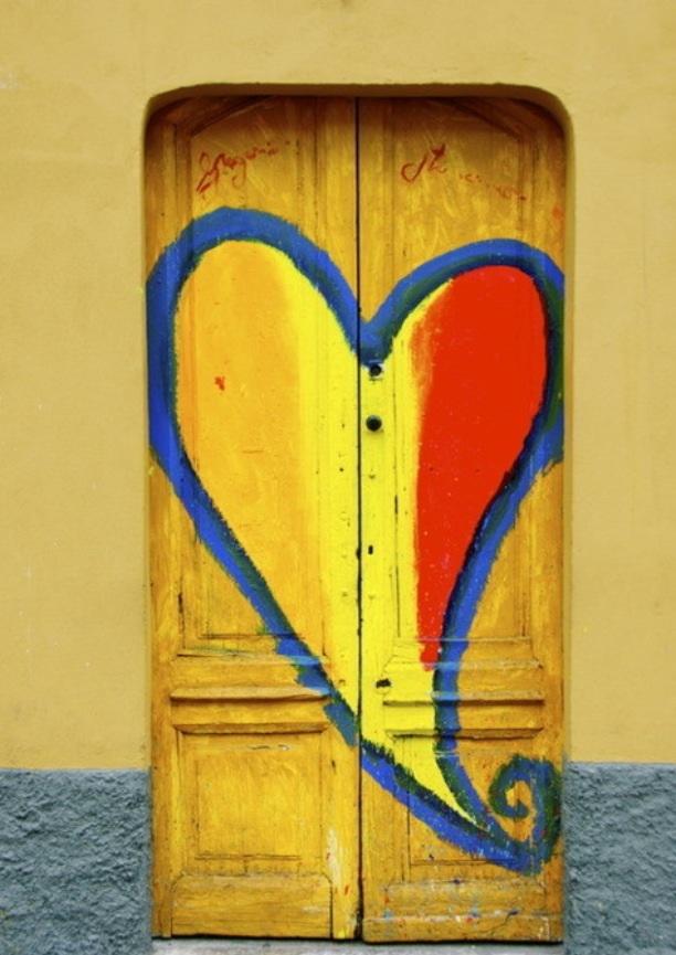 Heart Painting on Door