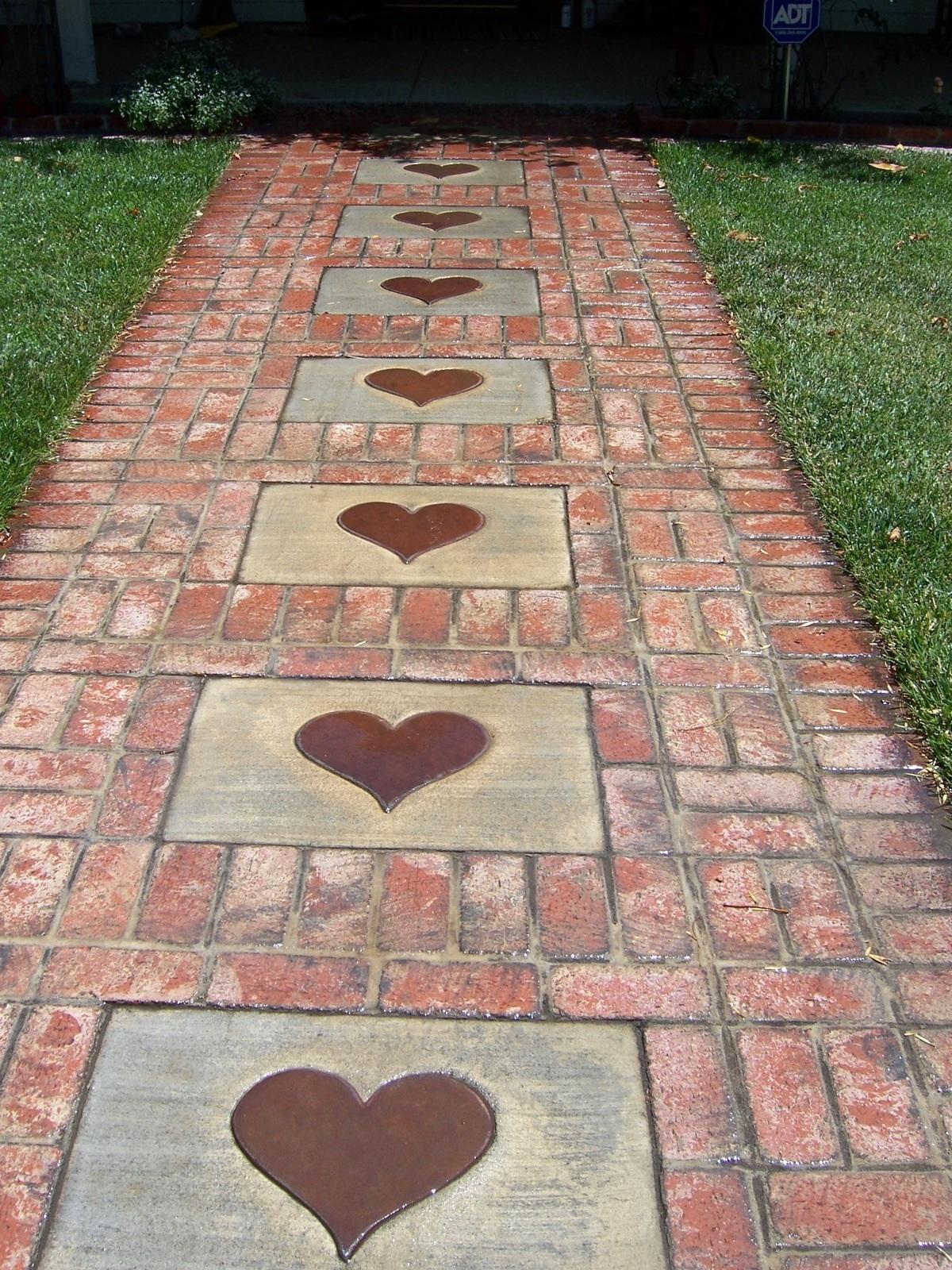 Hearts in the Walkway