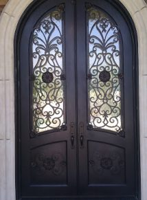Round Top Iron Door & Custom Iron Doors - Doors by Design - Alabama and Mississippi