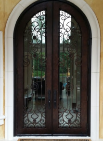 Round Top Iron Door