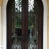 Round Top Iron Door