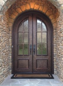 Round Top Iron Door TDL Divided Lite