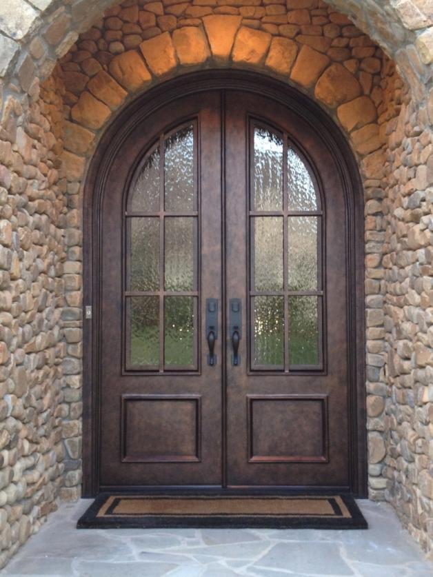 Round Top Iron Door TDL Divided Lite
