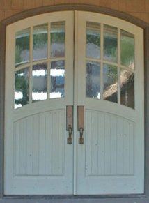 Arch top 6 lites over vgrove panel door