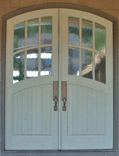 Arch top 6 lites over vgrove panel door