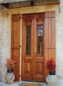 European style door with iron