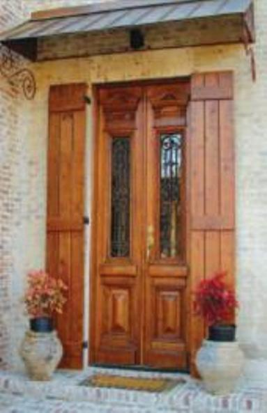 European style door with iron