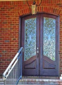 Custom Leaded glass door