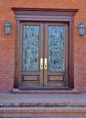 Square Top leaded glass door