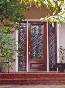Diamond Leaded glass door