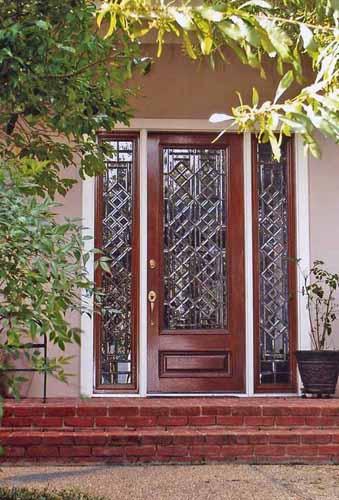 Diamond Leaded glass door