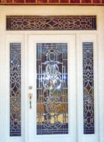 Leaded glass design doors