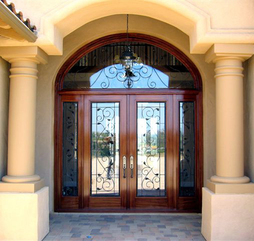 Square Top doors with iron and Transom