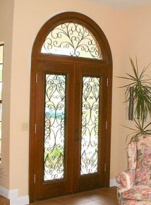 Double Door with half round transom