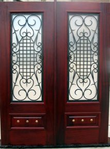 WOOD & IRON SQUARE TOP DOORS