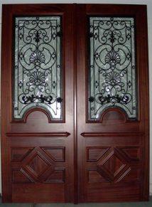 IRON & WOOD SQUARE TOP DOORS