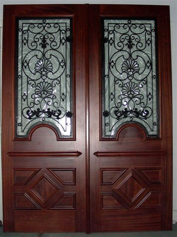 IRON & WOOD SQUARE TOP DOORS