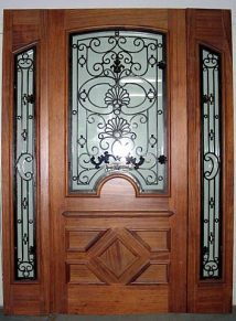 GORGEOUS SINGLE DOOR WITH IRON PLUS SIDELITES