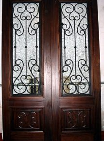 DOUBLE SQUARE TOP DOOR WITH IRON