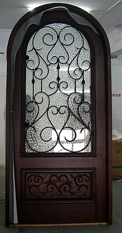 SINGLE ROUND TOP DOOR WITH IRON