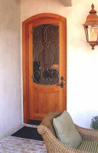 SINGLE WOOD DOOR WITH IRON