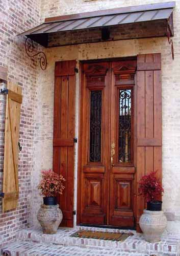 ANTIQUE WOOD DOOR WITH IRON