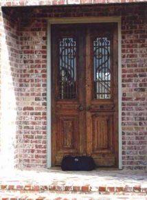 ANTIQUE WOOD DOOR WITH IRON