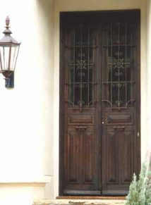 ANTIQUE WOOD AND IRON DOOR