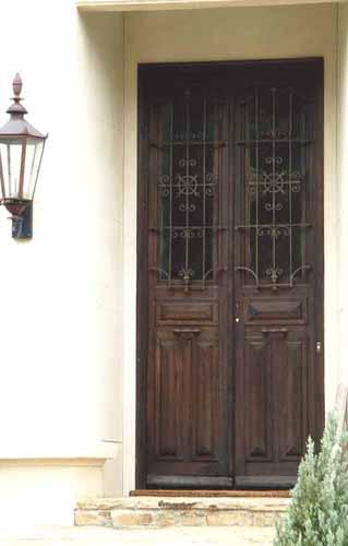 ANTIQUE WOOD AND IRON DOOR