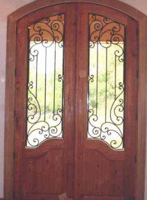 ARCH TOP WOOD DOOR WITH IRON