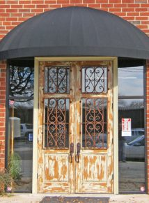 ANTIQUE DOOR WITH IRON