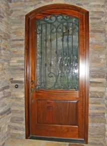 SINGLE MAHOGANY DOOR WITH IRON