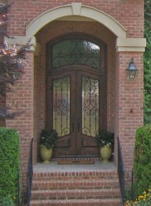GRAND ENTRY DOOR WITH IRON AND TRANSOM