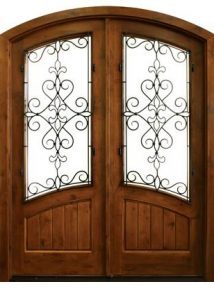 Keowee with Iron Knotty Alder Double Door