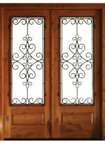 Oconee Knotty Alder with Gilford Iron Double Door
