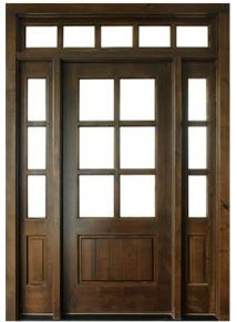 Oconee TDL 6LT Knotty Alder Door