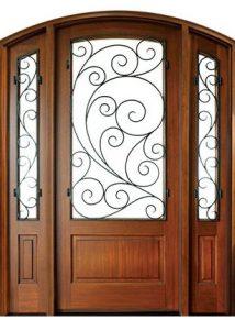Trinity Burlwood Single Door with sidelites
