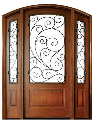 Trinity Burlwood Single Door with sidelites