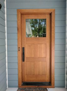 Quarter Sawn Oak Door